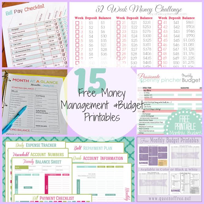 15 FREE Money Management Budget Printables – Free Printable Budget Worksheets