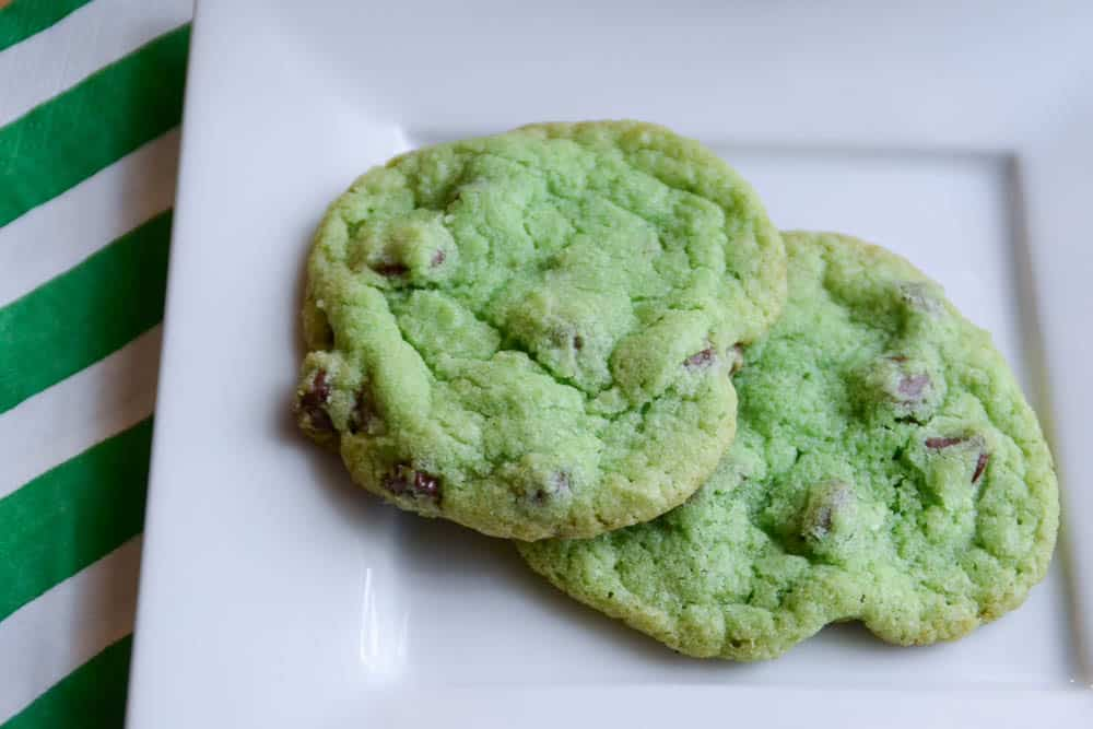 Green Chocolate Chip Cookies-1-3