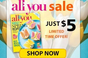 ALL YOU Magazine 1 Year for Only $5!