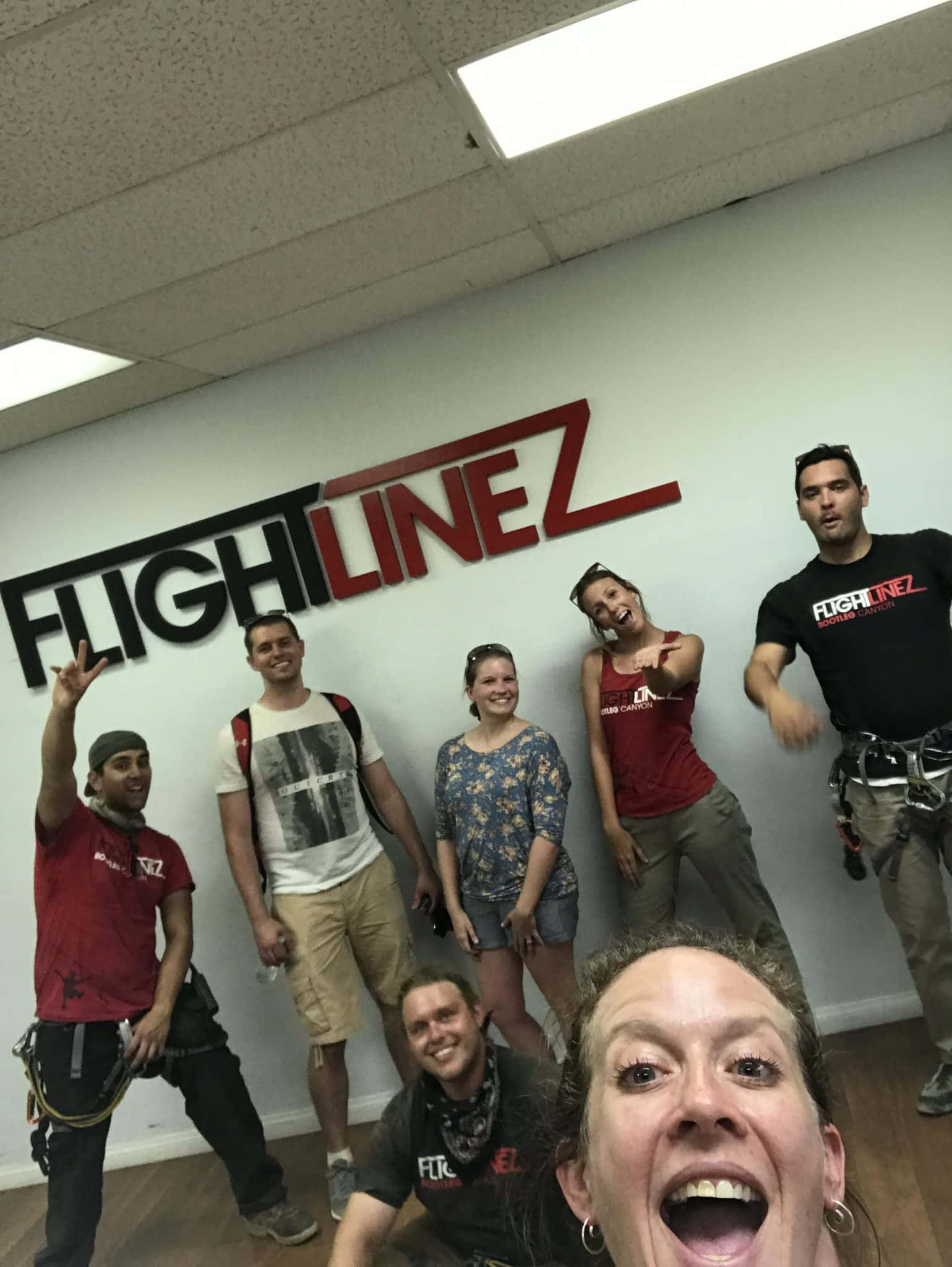 Zip line over the Mojave Desert with @FlightlinezBC #Hosted @USFG