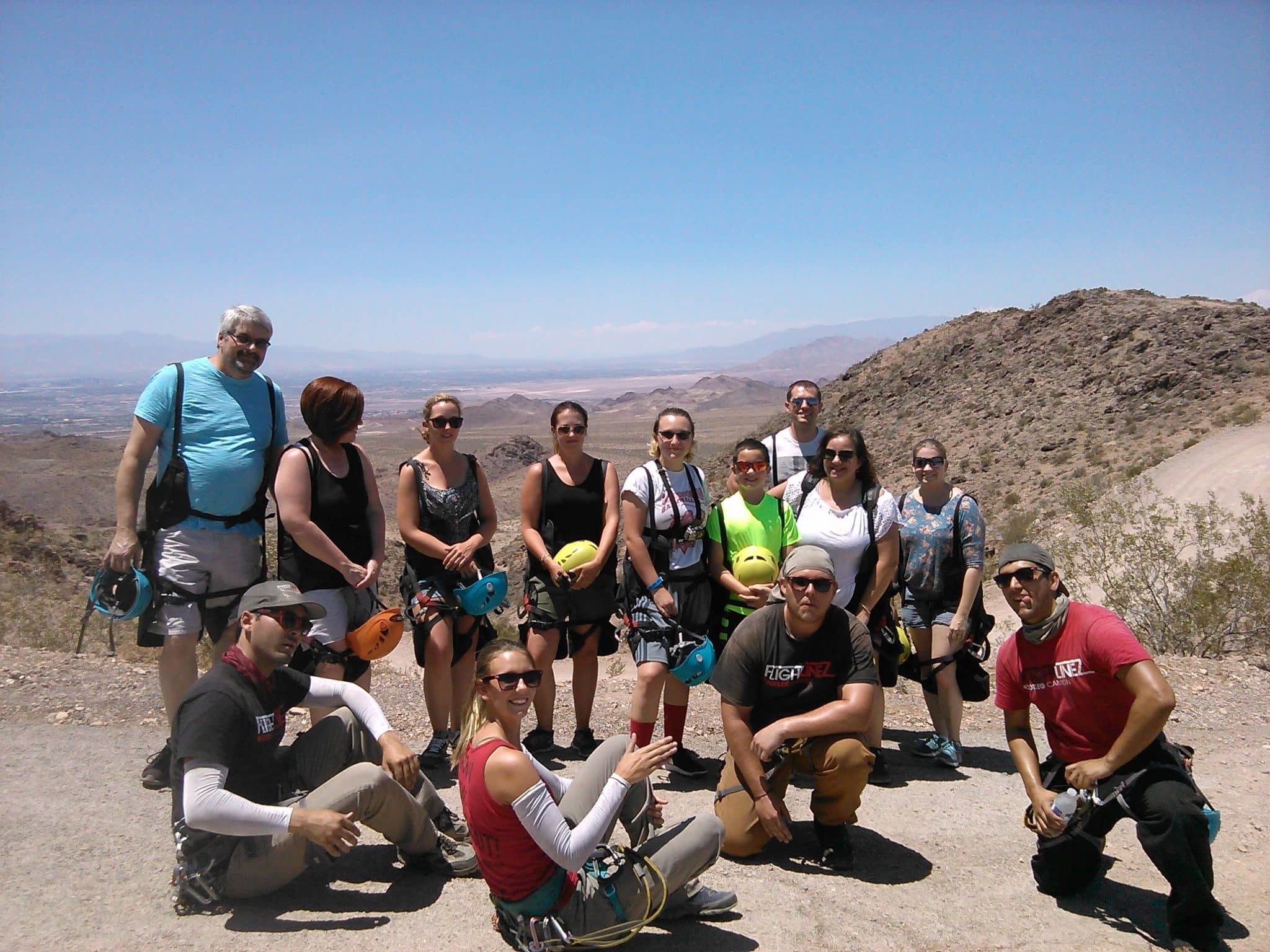 Zip line over the Mojave Desert with @FlightlinezBC #Hosted @USFG