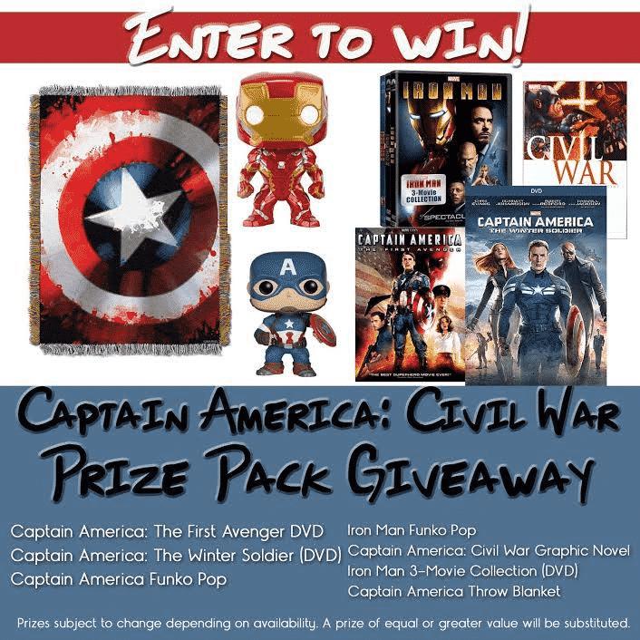 Captain America Civil War Prize Giveaway