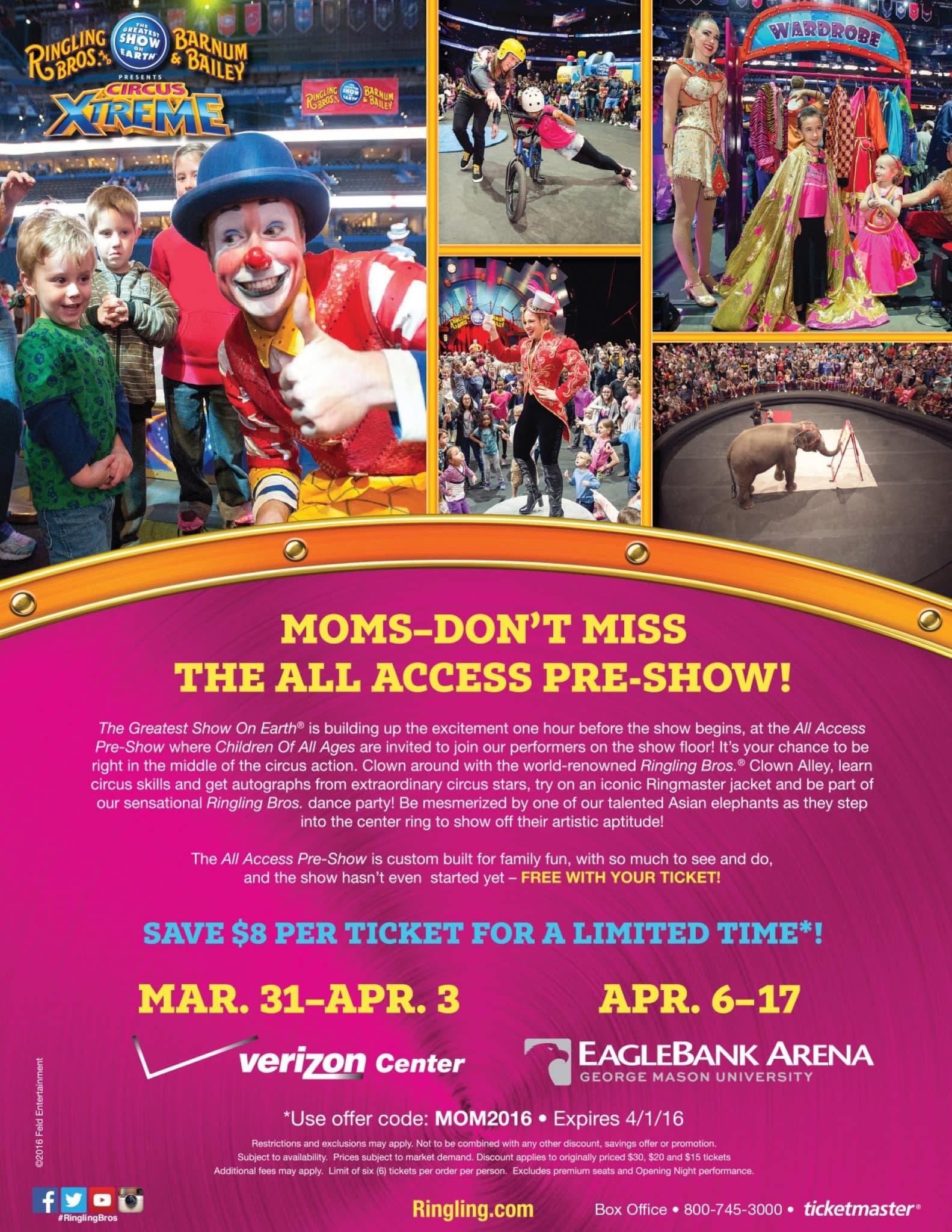 Circus Discount Offer