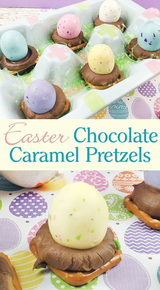 Easter Chocolate Caramel Pretzels