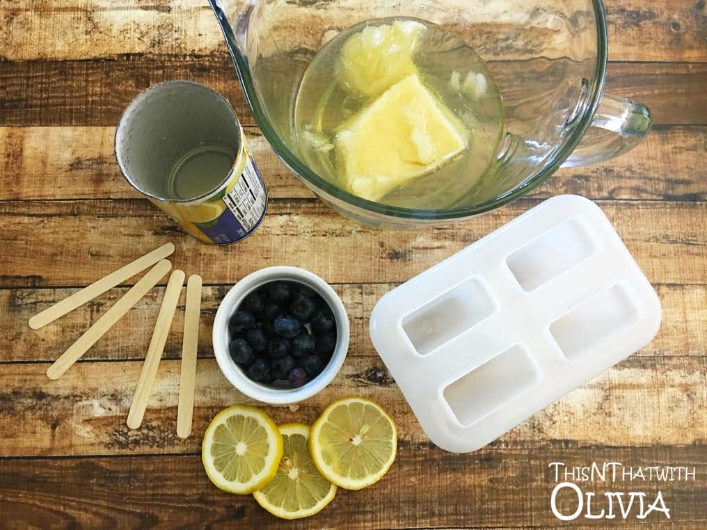 Blueberry Lemonade Pops Ingredients