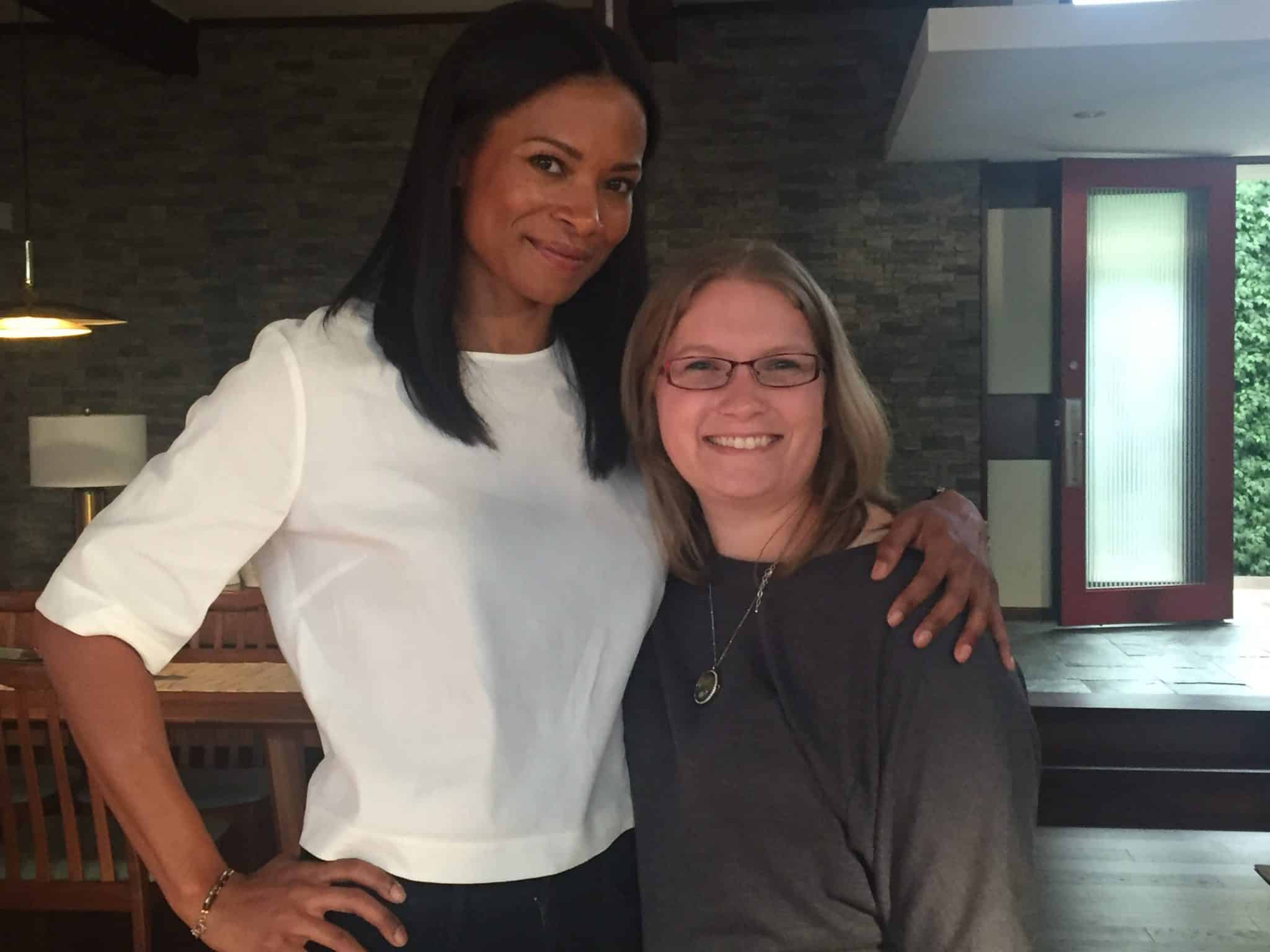 Rose Rollins and I on the set of The Catch