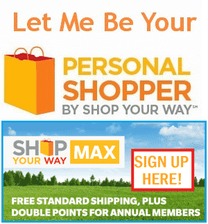 Shop Your Way Rewards Personal Shopper