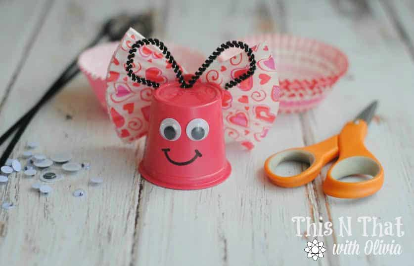 DIY Butterfly K-Cup Craft   ThisNThatwithOlivia.com