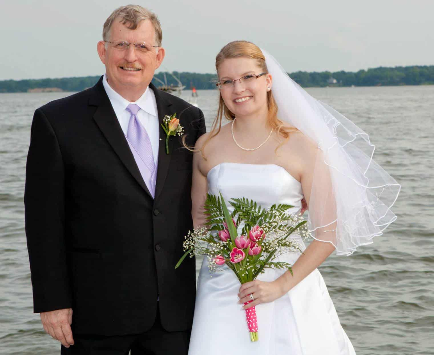 Dad and I on my Wedding Day