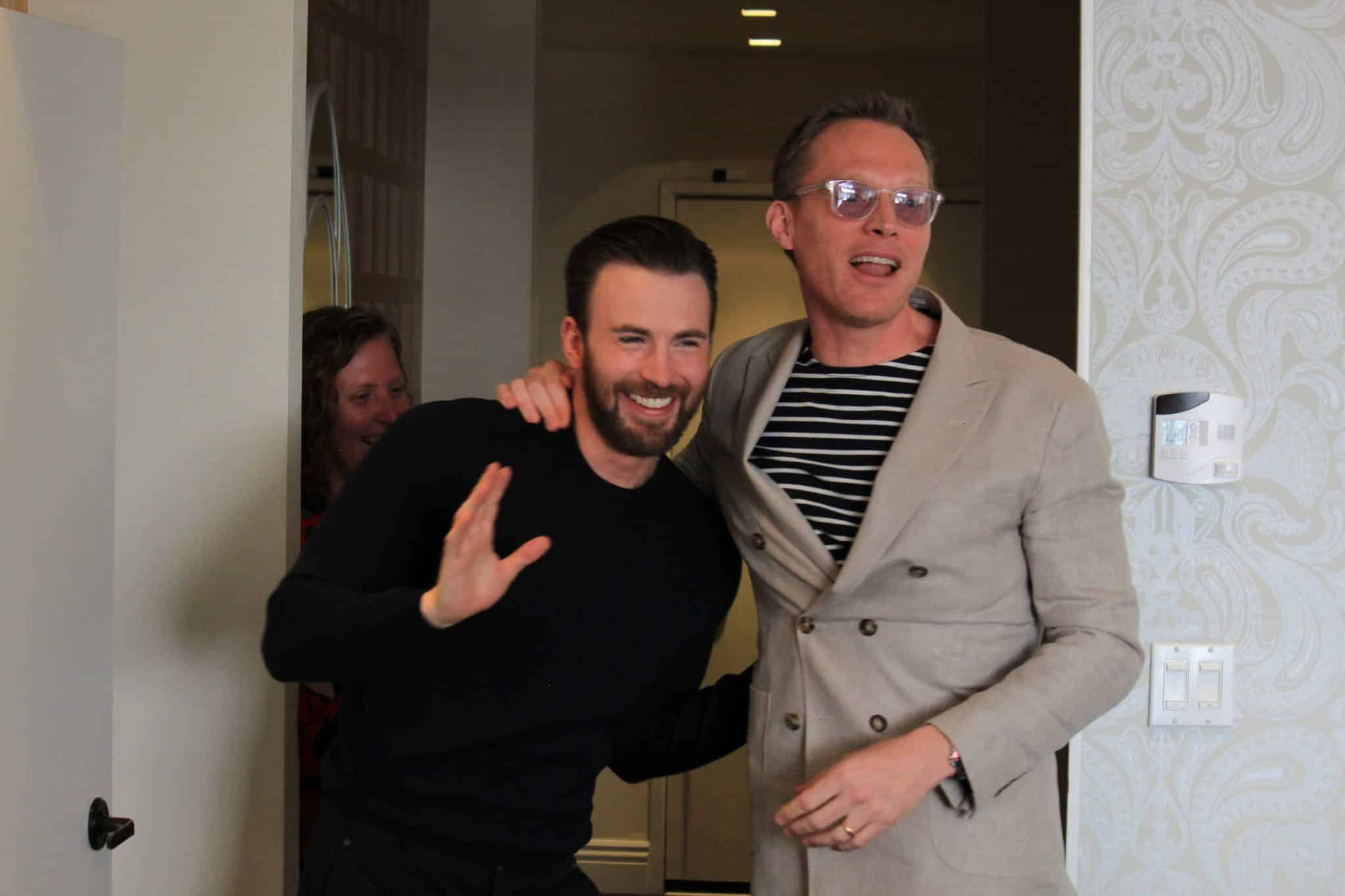 Paul Bettany and Chris Evans