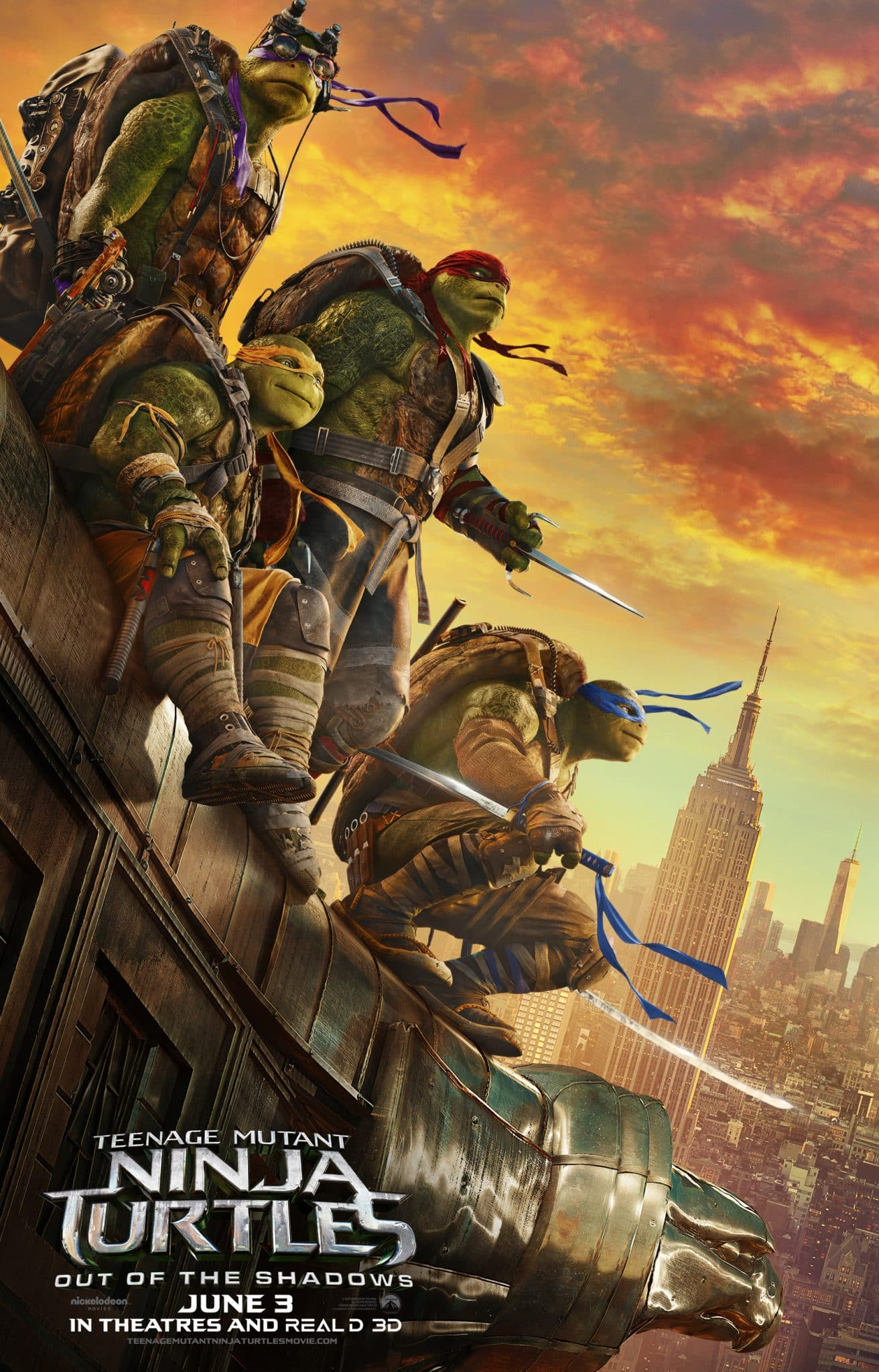 TMNT Out of the Shadows Poster