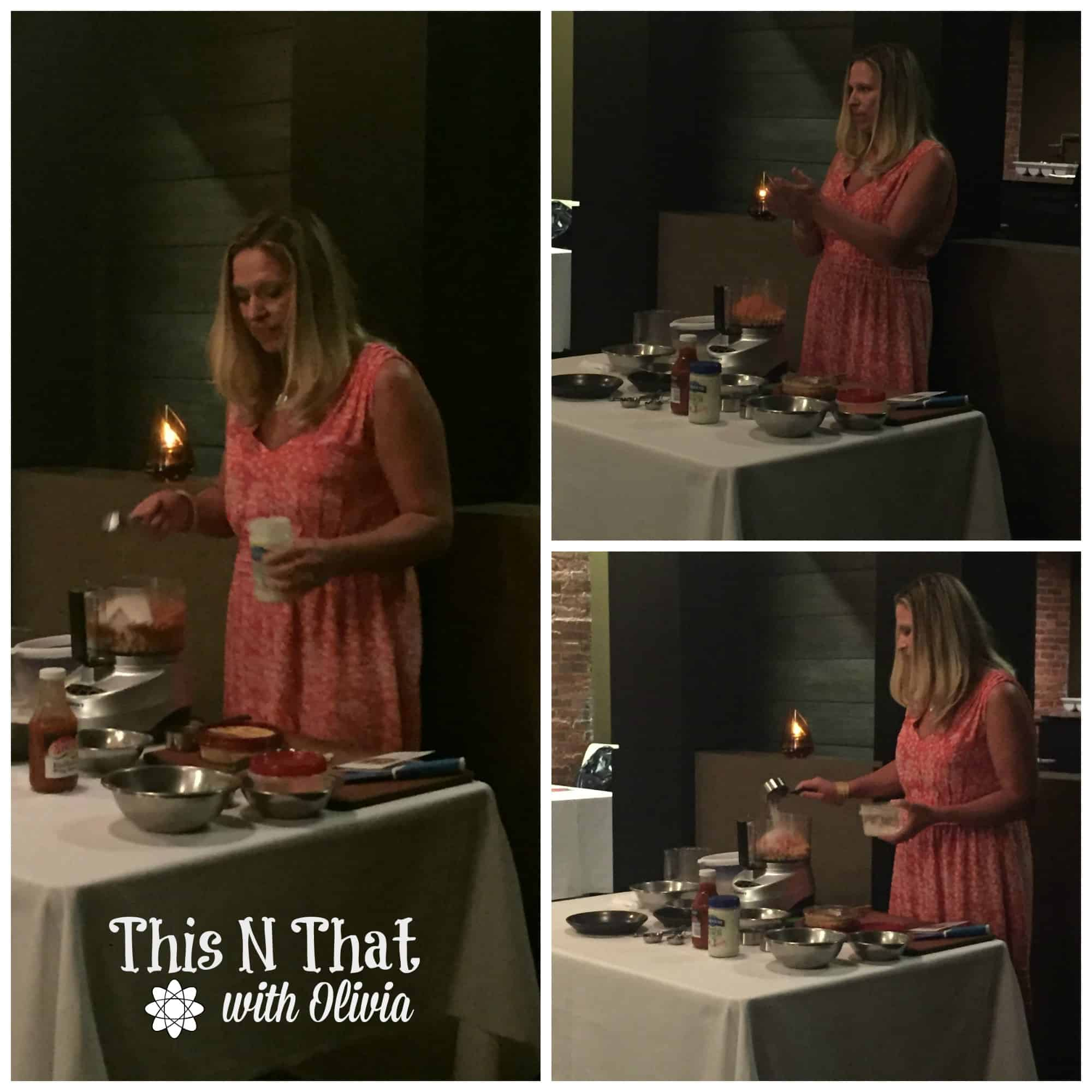 Live Cooking Demonstration with Rebecca at the #SeeTheLite Event   ThisNThatwithOlivia.com