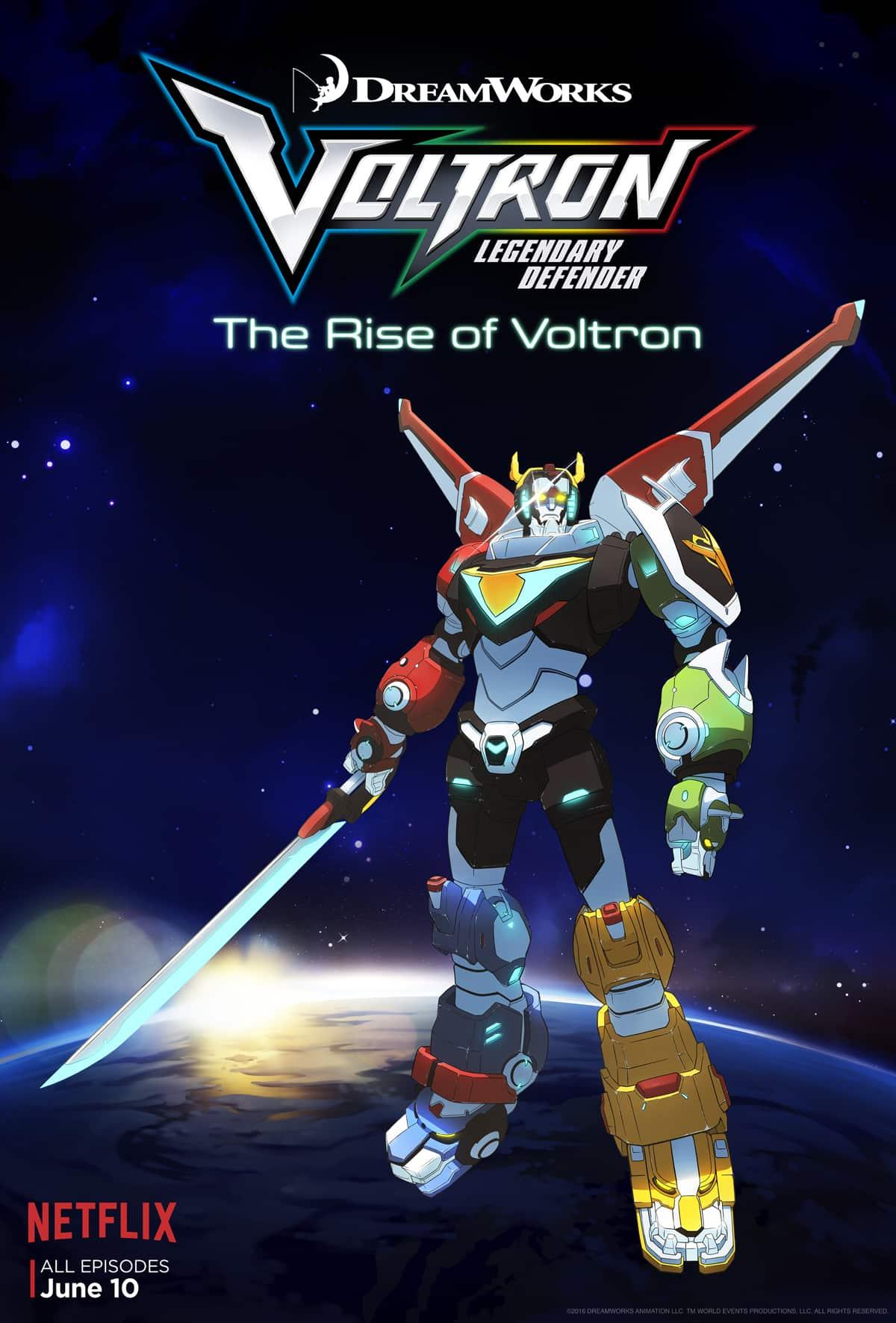 Voltron on Netflix Poster