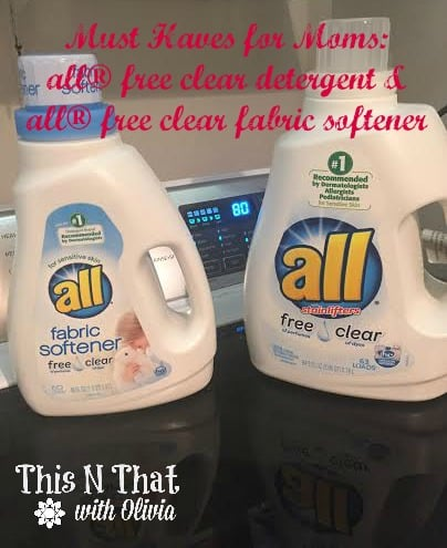 Must Have for Moms: all® free clear detergent #FreeToBe
