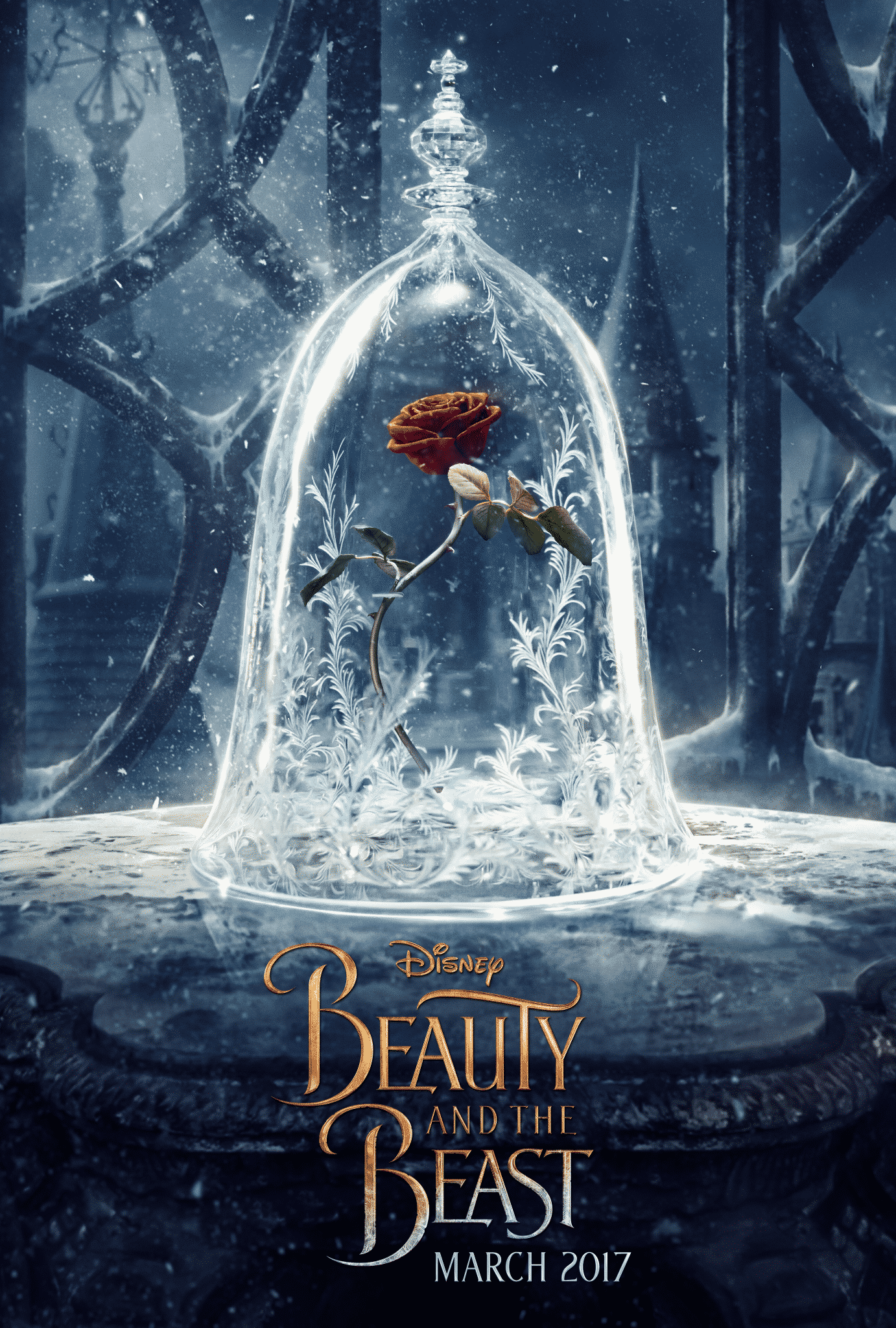 NEW Teaser Poster for Disney's The Beauty And The Beast in Theaters March 17, 2017 #BeOurGuest #BeautyAndTheBeast | ThisNThatwithOlivia.com