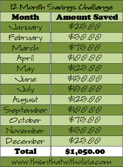 monthly savings challenge   monthly  savings  newyear