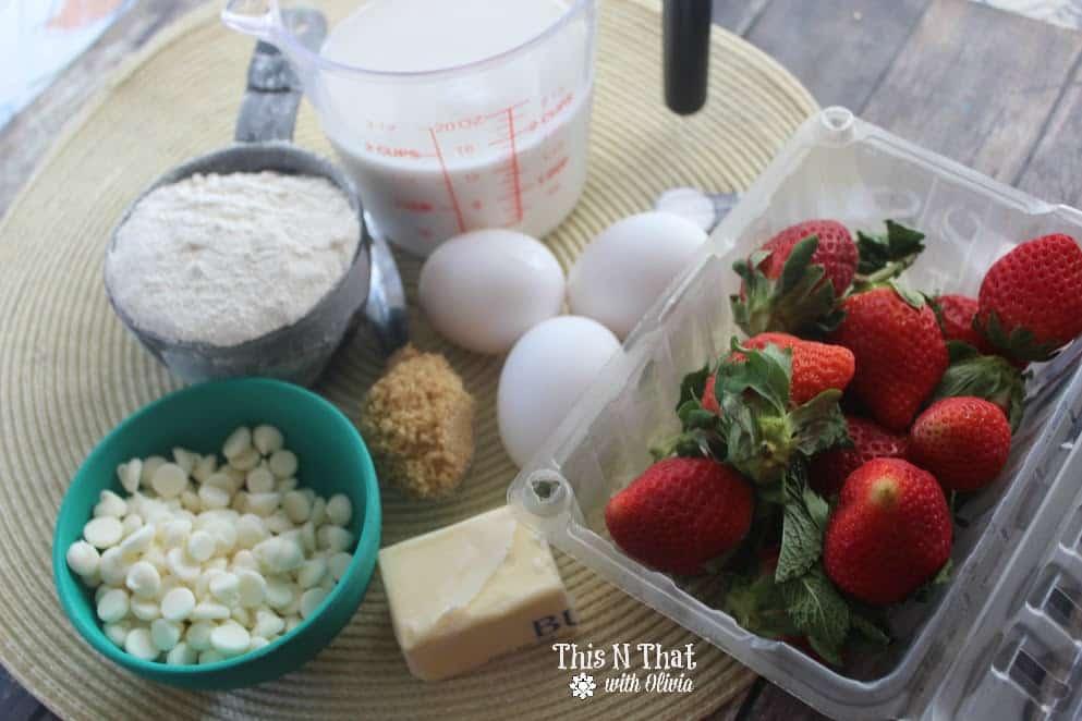 Strawberry White Chocolate Pancake Muffins   ThisNThatwithOlivia.com