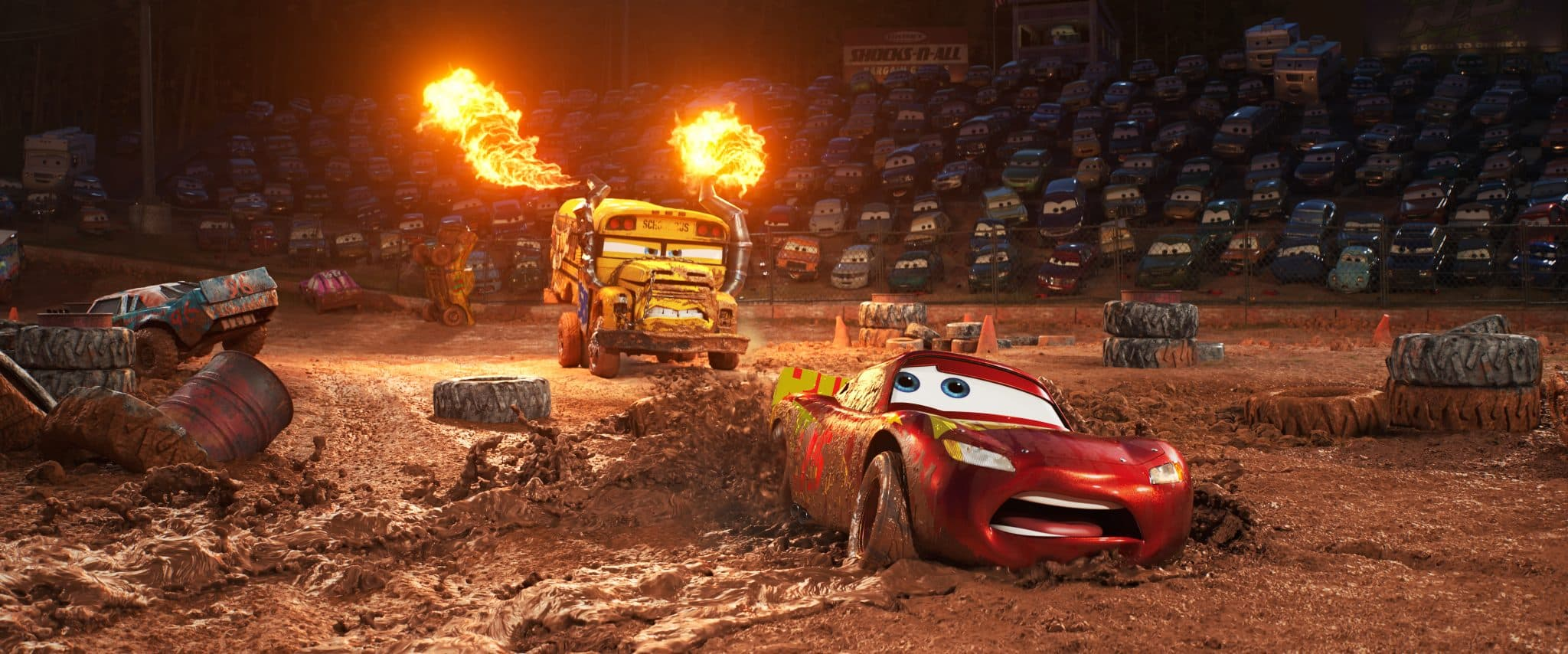 Free coloring pages cars 3 - Crazy 8 Drama In Cars 3 Lightning Mcqueen Voice Of Owen Wilson Hits The Road In An Effort To Reignite His Career Along The Way He Finds Himself In