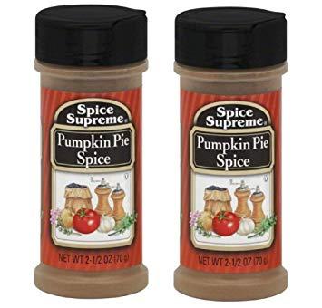 Spice Supreme: Pumpkin Pie Spice, 2.5 oz Size (2 Pack)