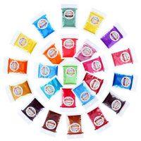 Erosom 24 Colors Mica Powder Pigments Soap Dye for Soap Coloring - Soap Making Colorants Set - 0.2 OZ - Skin Safe for DIY Soaps, Bath Bombs, Candle Making,Resin Dye (NOT STAINING,137g total,Shimmer)
