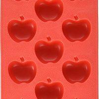 Fairly Odd Novelties Apple Shape Flexible 11-Ice Cube Tray, Silicone Novelty Gag Gift, Red