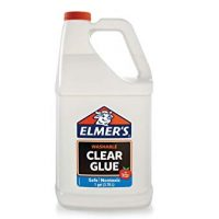 Elmer's Liquid School Glue, Premium Clear, Washable, 1 Gallon, 1 Count - Great For Making Slime