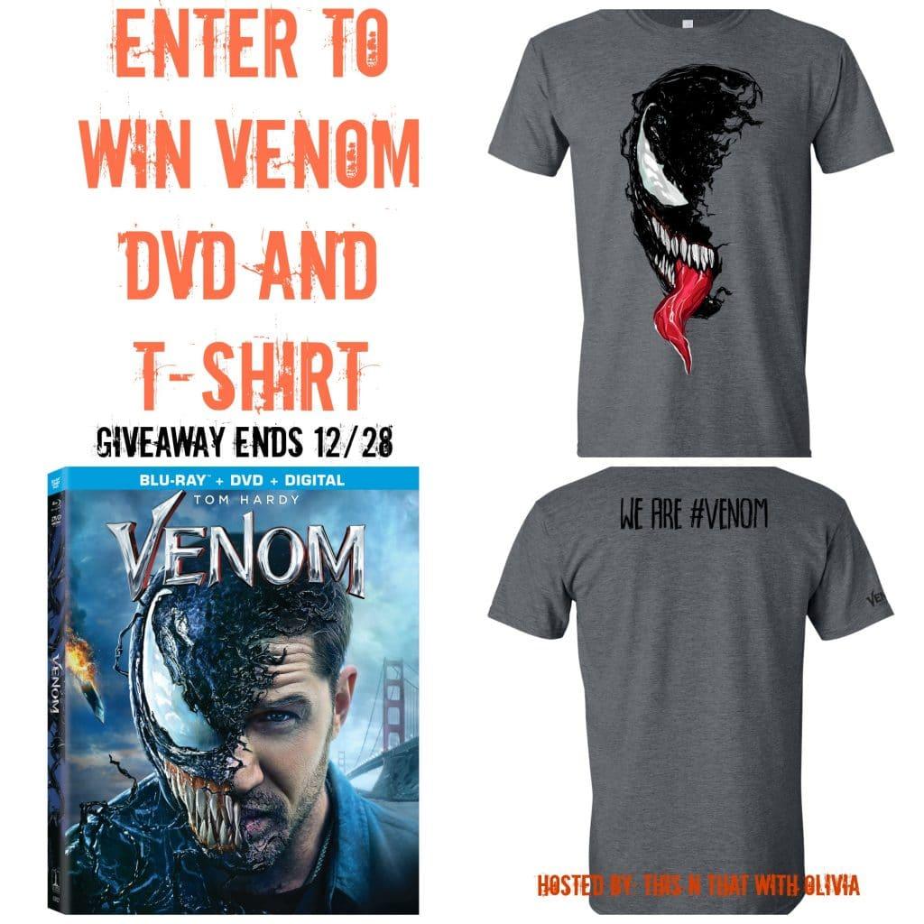 Venom DVD + T-Shirt Giveaway