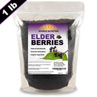 Dried Elderberries - Naturally Grown, Whole European Elder Berries, Responsibly Wild Crafted - (1 Pound) - Bulk Resealable Bag (Organic Ingredients)