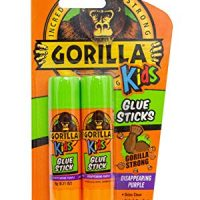 Gorilla 2605201 School Glue Sticks, 1-Pack, Disappearing Purple, 2 Piece