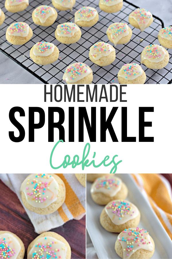 Orange Zest Sprinkle Cookies with Homemade Icing!