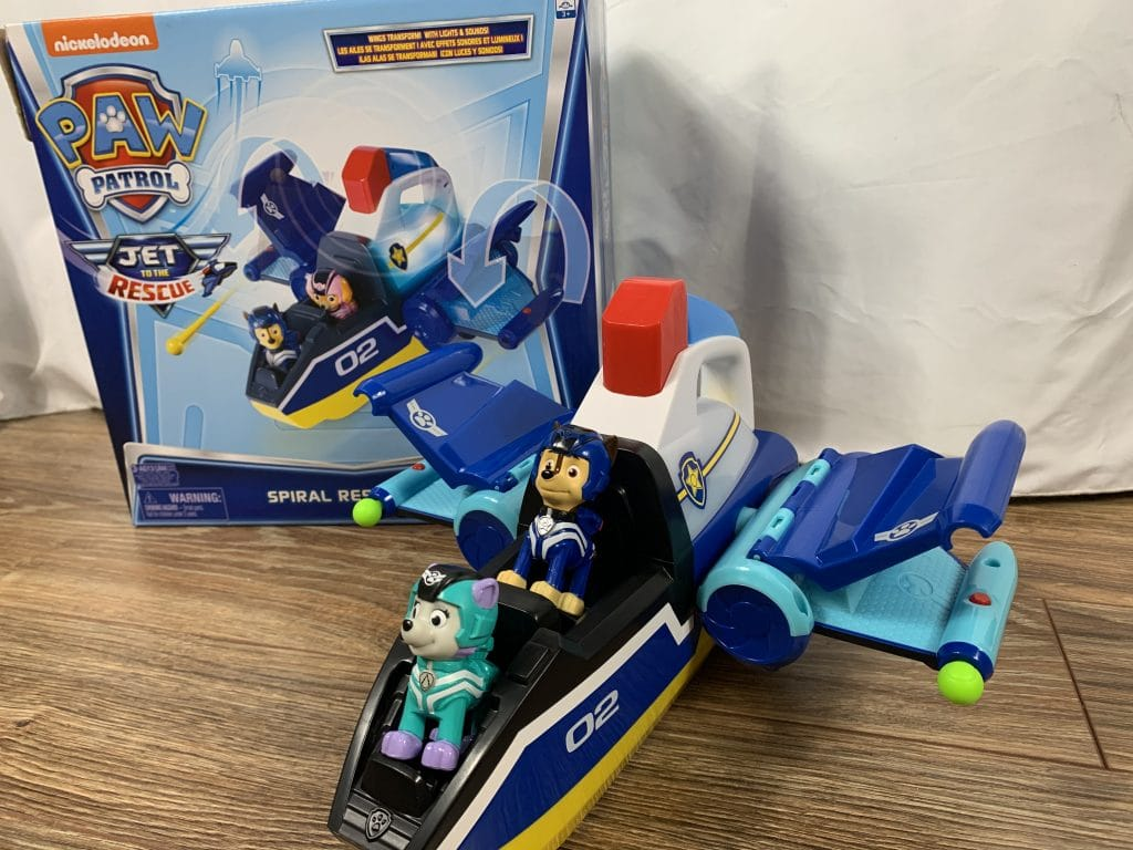 PAW PATROL: JET TO THE RESCUE Transforming Spiral Rescue Jet
