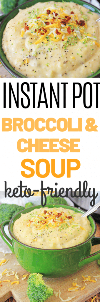 Instant Pot Keto Broccoli and Cheese Soup