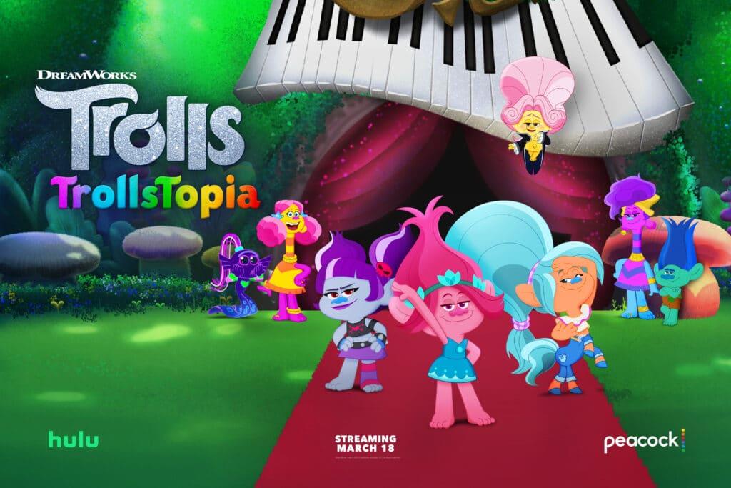 DreamWorks TrollsTopia Season Two Now Streaming on Peacock and Hulu!