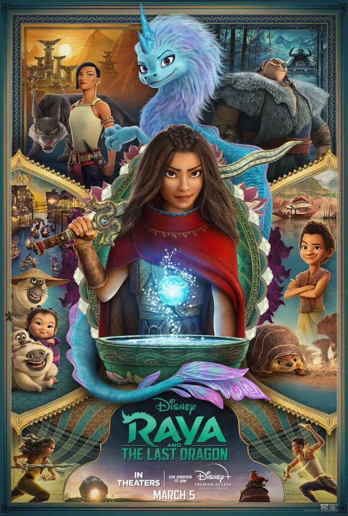Disney's Raya and the Last Dragon Streaming with Premiere Access on Disney+