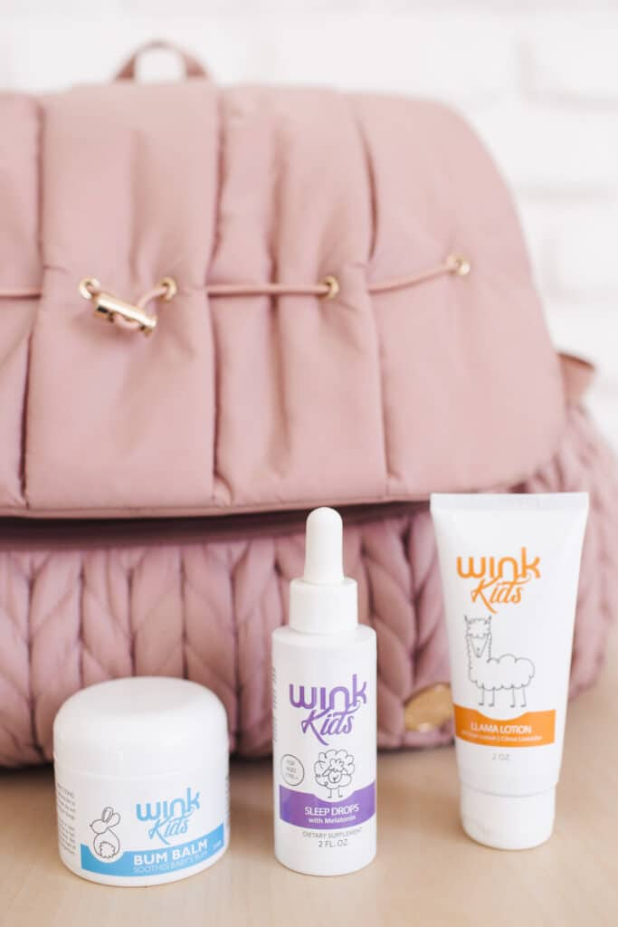 The diaper bag trio from Wink Naturals