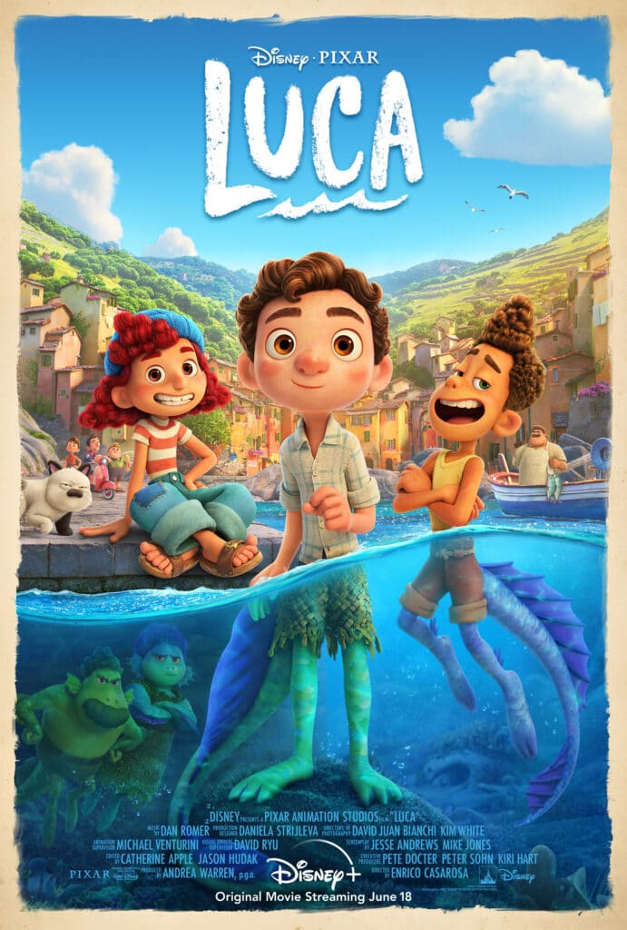 LUCA Now Streaming on Disney+  -- FREE Activity Packet