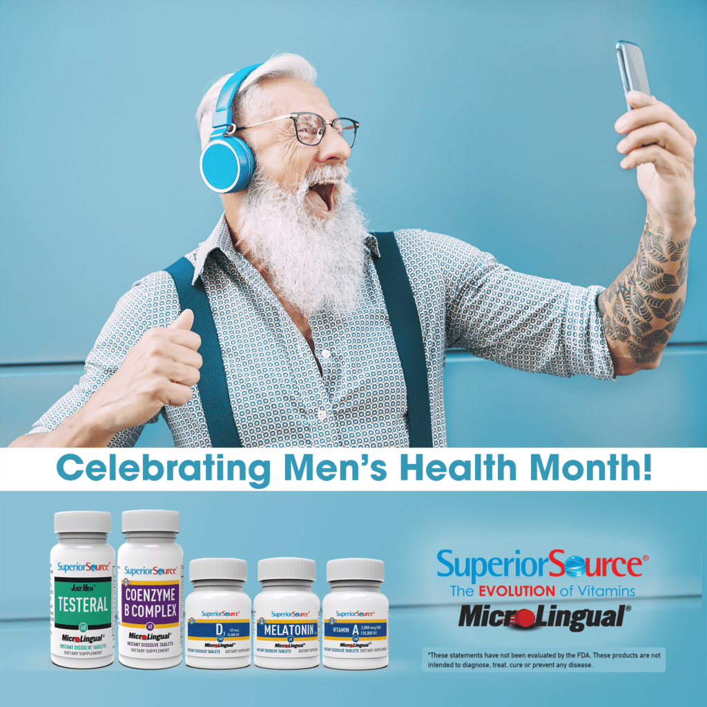 Stay Active. Live Healthy! Men's National Health Month - Enter to Win a Superior Source Vitamin Bundle